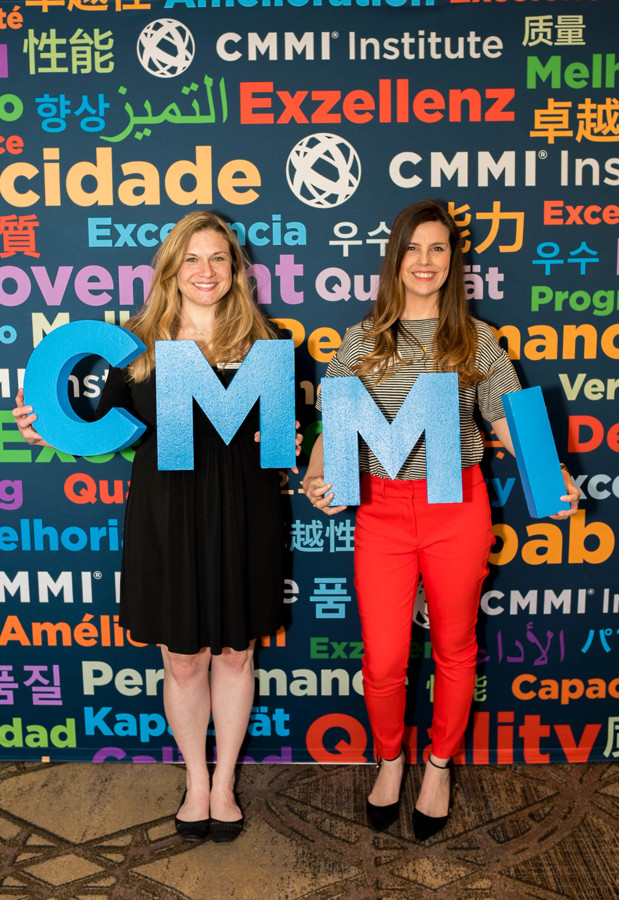 CMMI Institute staff- Courtney Connor and Ana Balmert