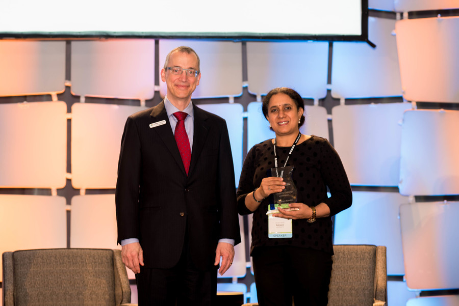 2018 Capability Challenge Champion Ashwani Nandini and CMMI Institute CEO Kirk Botula